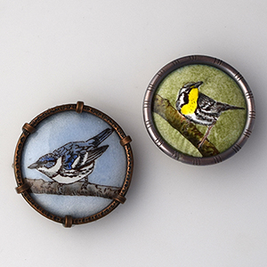 Warbler Brooches