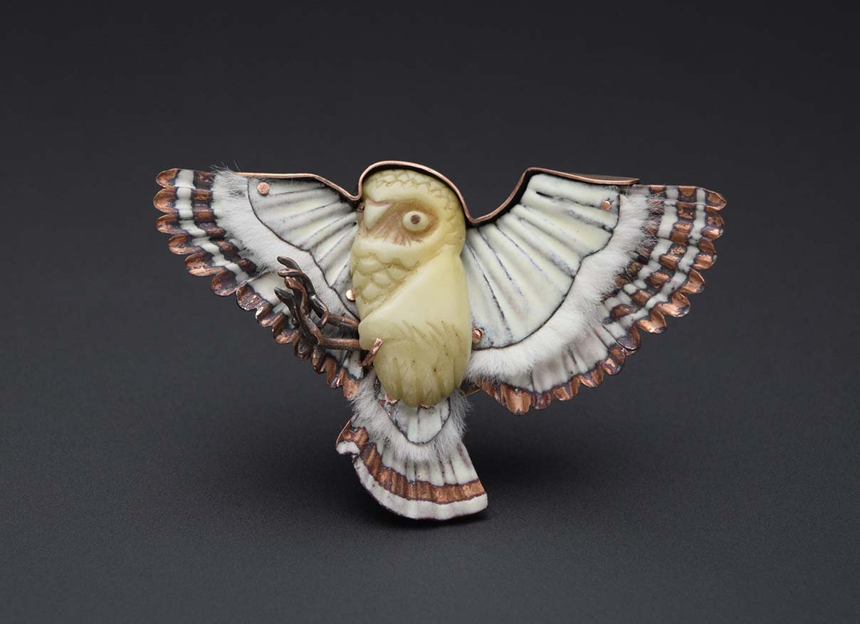 Burrowing Owl Brooch